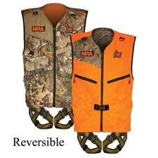 Hunter Safety Systems NRA Patriot Vest Harness Reversible (Orange/Camo) 420 L/XL