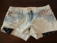 YMI Shorts Size 9 Distressed Light Color U.S.A. Theme Flag