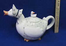 Fitz & Floyd Betty Quacker Ceramic Teapot Tea Pot Goose Geese Duck Kitchen Decor
