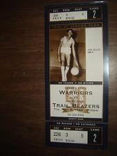 Ticket Stub Nba Joe Ellis Warriors Balzers 11/5/96 50Th Unused Full Ticket