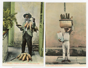 lot of 7 circa 1910 Cuba postcards, people