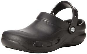 Crocs Womens Bistro Clog Closed Toe Ankle Strap Clogs, Black, Size 11.0 KsFk