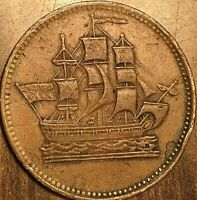 PEI CANADA SHIPS COLONIES AND COMMERCE HALFPENNY TOKEN LEES 40 11+H SHC-19