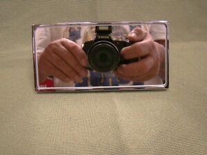 chrome rectangular rear view mirror universal rear view mirror glue on mirror
