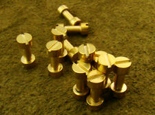 Alistar UK 12x Brass Corby Bolt Rivets, Knife Scale Handle Making Bushcraft(1200