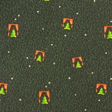 BVLGARI Christmas Tree Through Open Window Green Holiday 7 Fold Men's Silk Tie