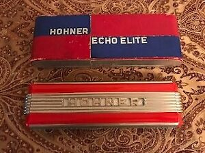 Vintage Hohner 1930-40 Echo Elite Harmonica A. Made in Germany. Box included.