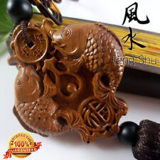 FengShui  Natural Rosewood Carp (Koi) Amass Fortunes Collection Adornment