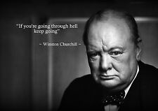 Winston Churchill 5 Inspirational Photo War Hero Motivational Quote A3 Poster