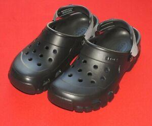 Crocs Offroad Sport Clogs Adjustable Strap Black Mens Size 10 Womens Size 12