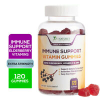 Elderberry Immune Support Gummy Vitamin Vitamin C, Sambucus & Zinc - 120 Gummies
