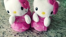 Hello Kitty Slippers Toddler Girls Sock Top Warm Fuzzy Cat Pink - Sz Small 5-6