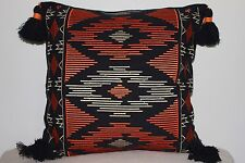 Beautiful Khaadi Handwoven Fabric Cushion with Embroidery & Tassle detail