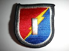 US 1st LIEUTENANT Rank Metal Badge On 4th Brigade 25th INFANTRY Division Patch