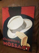 Vintage Chapeaux Mossant Olsky Canvas On Wood #1754971