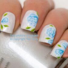 Blue Lily Rose Matrimonio Nail Art Design Decalcomanie Adesivi trasferimenti di acqua #164
