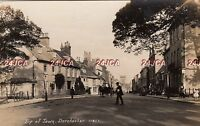 English Real Photo. Top of Town.  Dorchester. Dorset. Horse & Carts. c 1920s