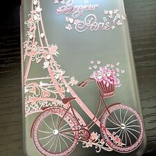 iPhone 6 / 6S - ULTRA THIN HARD CASE COVER PARIS EIFFEL TOWER BIKE FLOWER BLINGS