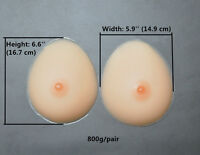 800G/Pair Silicone Breast Forms Drag Queen Fake Breast C Cup Crossdresser Gifts