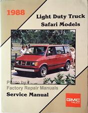 1988 GMC Safari Van Factory Service Manual Passenger, Cargo Original Shop Repair