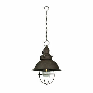 Antique Farmhouse LED Pendant Light Battery Operated Timer Hanging Accent Lamp