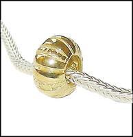 *New* Rhona Sutton gold plated 925 Sterling Silver European pumpkin charm bead