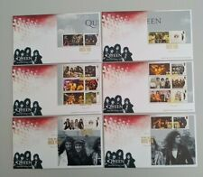 More details for 2020 queen album covers collectors smiler sheet over 6 fdc rock you  truro pmk
