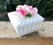 Ceramic Trinket Keepsake Box Pins And Things Vanity Storage Jewelry Box Floral