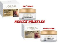 L'OREAL Age Specialist 65+ Anti-Aging DAY or NIGHT Cream Hydrates Skin 50ml