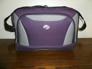 American Tourister Purple/Grey Carry On Travel Bag