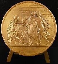 Médaille 1815 achèvement Palais de la Bourse Louis XVIII Charles X Mercure medal