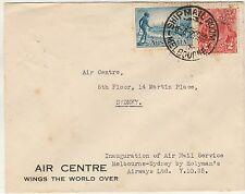 AUSTRALIA 1935 FIRST FLIGHT COVER MELBOURNE SYDNEY HOLYMAN'S AIRWAYS