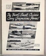 Gray Marine Boat Engine Motor PRINT AD - 1948 ~~ Graymarine Power