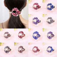 Women's Grips Barrettes Crystal Comb Clips Slide Pins Hair Flower Accessories