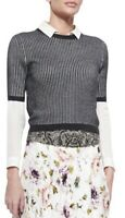 Haute Hippie Women's Size S Small Short Sleeve T-shirt Style Gray Sweater