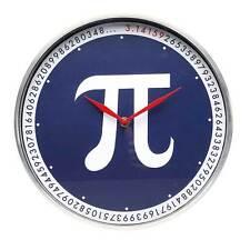 Pi 3.14 Aluminum Wall Clock - Novelty Math School Teacher Classroom Gift (NIB)