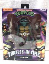 """NECA Teenage Mutant Ninja Turtles in Time 7"""" Slash Figure (NM Package)"""