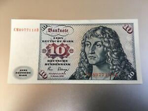 ★☆★ 10 Deutsche Mark 2.Januar 1980 ☆☆ DM Schein Bundesbank ☆☆  CM 8977118 D ★☆★