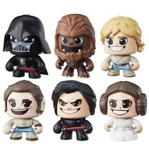 Star Wars Mighty Muggs Action Figures Wave 1 Set Kylo Ren, Leia Luke Darth Vader