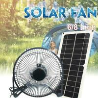 10W 12V Solar Panel & Fan RV Touring Car Camping Pet Chicken Ventilator Hou X
