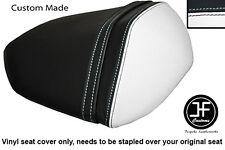 WHITE & BLACK VINYL CUSTOM FOR KAWASAKI Z750 07-12 & Z1000 07-09 REAR SEAT COVER