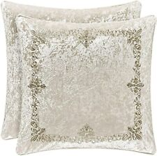 J. Queen New York Dream Embroidered 18-Inch Square Throw Pillow in Natural
