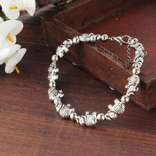 Fashion Jewelry Tibet Style Tibetan Silver Asian Elephant Charm Bracelet Bangle
