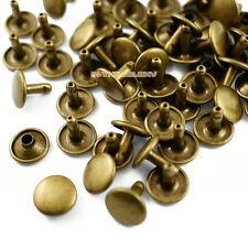 250 set 12*10mm Antique Brass Double Cap Round Rapid Rivet Leathercraft Rivet