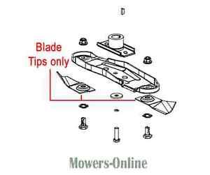 Genuine Masport Blade Tips Quick Cut (Pair) 579749 800ST SP MSV