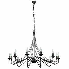 Large Chandelier Black Ø85cm 12-flammig Room Dining Room Lighting
