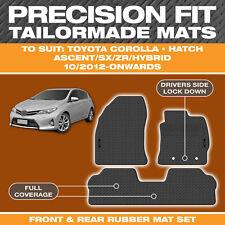 For Toyota Corolla Hatch 2012-2018 Custom Moulded Rubber Black Car Floor Mats