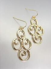 CLASSIC Designer Gold Filigree Dangle Earrings 51396