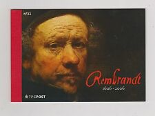 NVPH Netherlands PR 11 prestigeboekje with stamp B2435 DUTCH PAINTER REMBRANDT