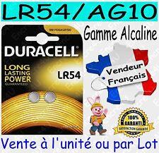 2 Piles Lr-54 / Ag10 Duracell Bouton Alcaline 1 5v DLC 2019